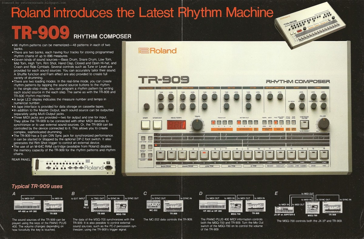 Roland TR-909 Ad