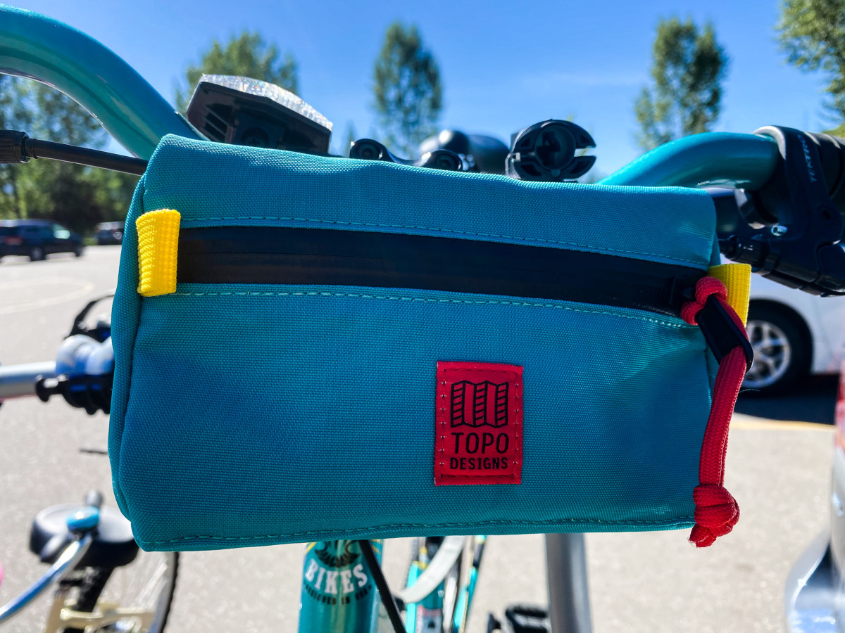 Essential Kit - The Topo Bike Bag - fits your wallet, keys, phone, and other essentials.