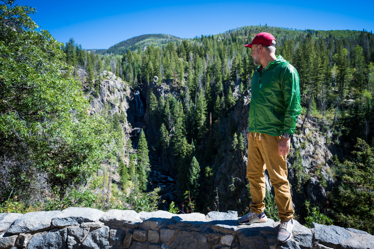 The Topo UltraLight Jacket and Dirt Pants @ Fish Creek Falls