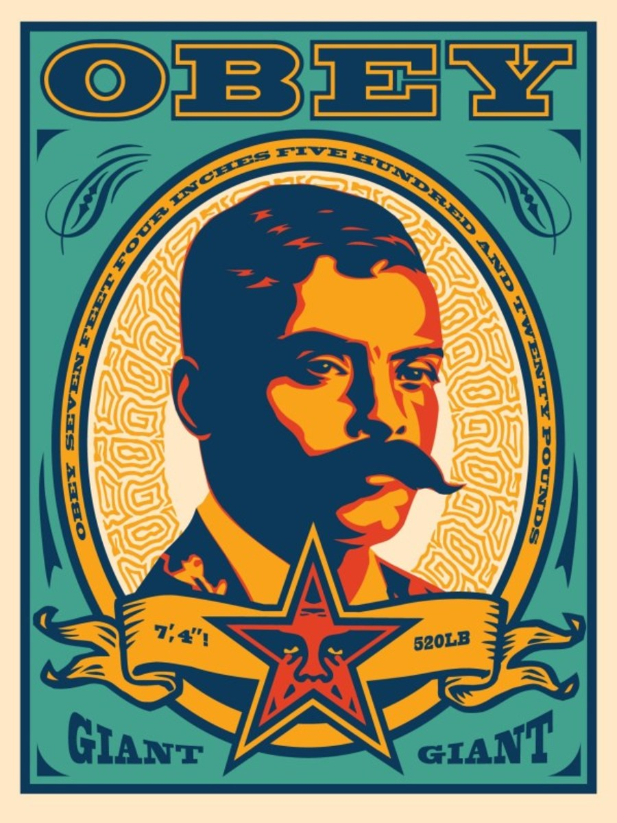 Zapata (Teal) 202018 inches by 24 inchesSigned by Shepard FaireyNumbered Edition of 500, APYear Issued: 2020Value: $200