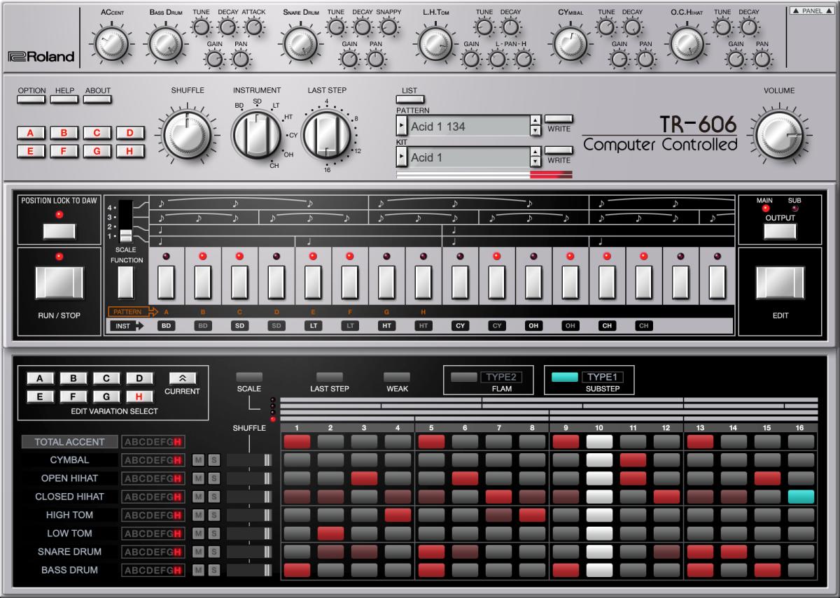 TR-606 plugin