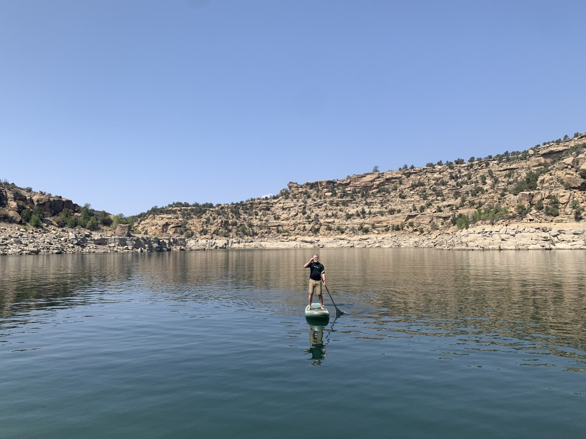 SUPing at Navajo Lake