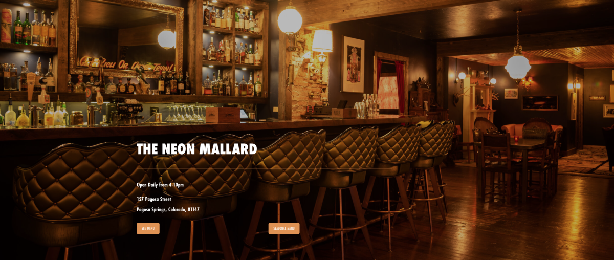 Click here to enter the wonderful world of the Neon Mallard