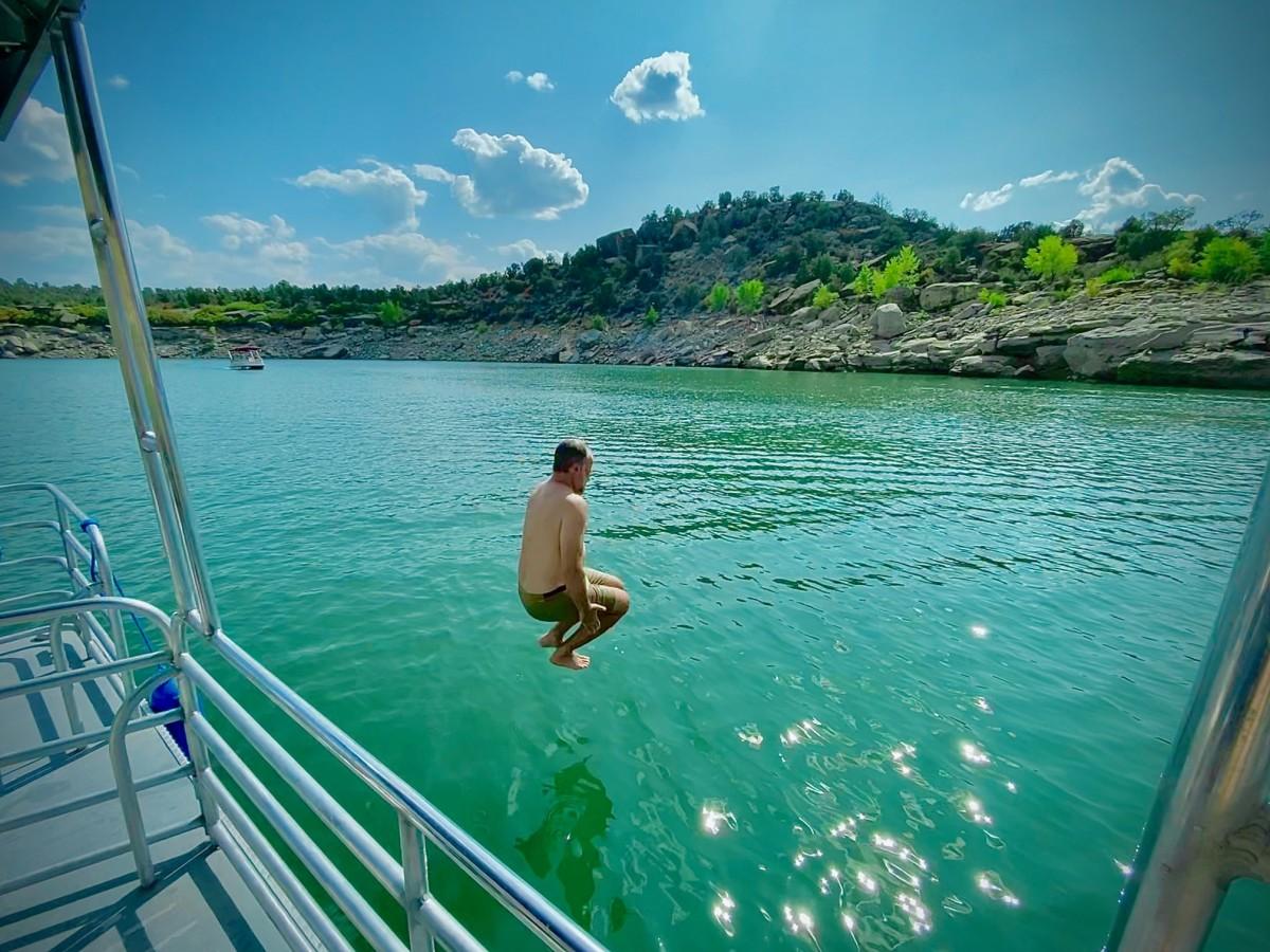Splash down. Worth every penny! Navajo Lake.