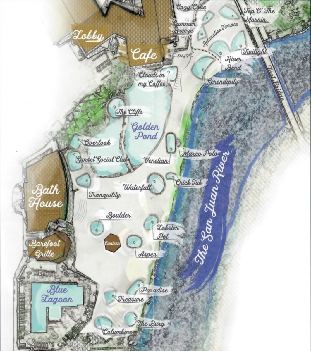 Pool Map of Pagosa Hot Springs Resort