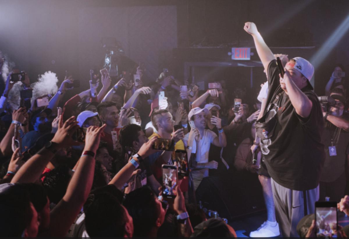 Jony Beltran performs at Red Bull Batalla de Los Gallos in Miami, FL on October 18, 2019