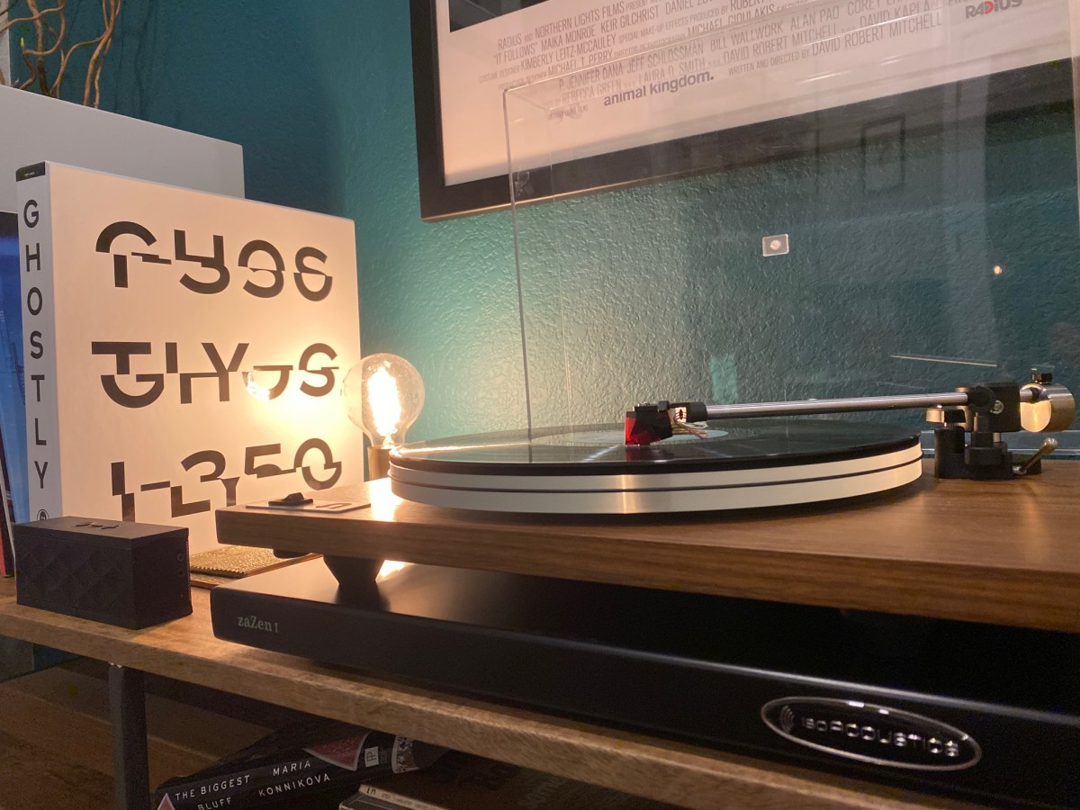 """The zaZen I with our Orbit Turntable in our """"vinyl room"""""""