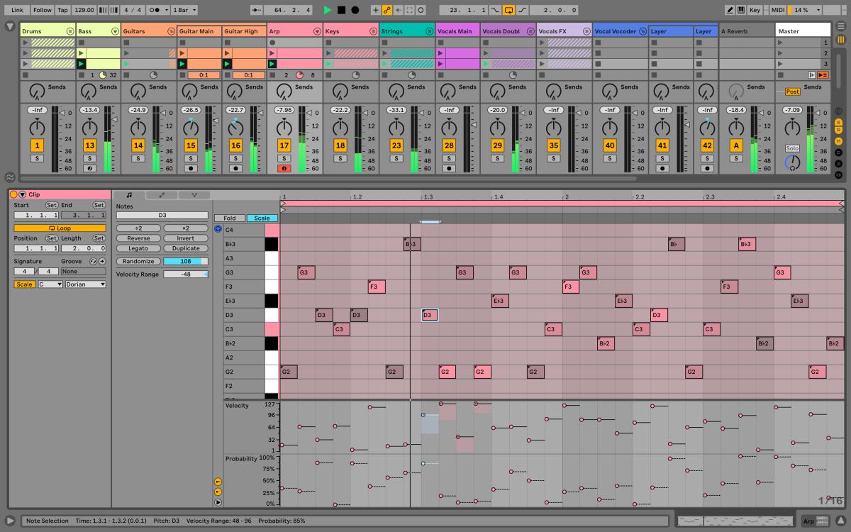 Add randomization to MIDI note parameters