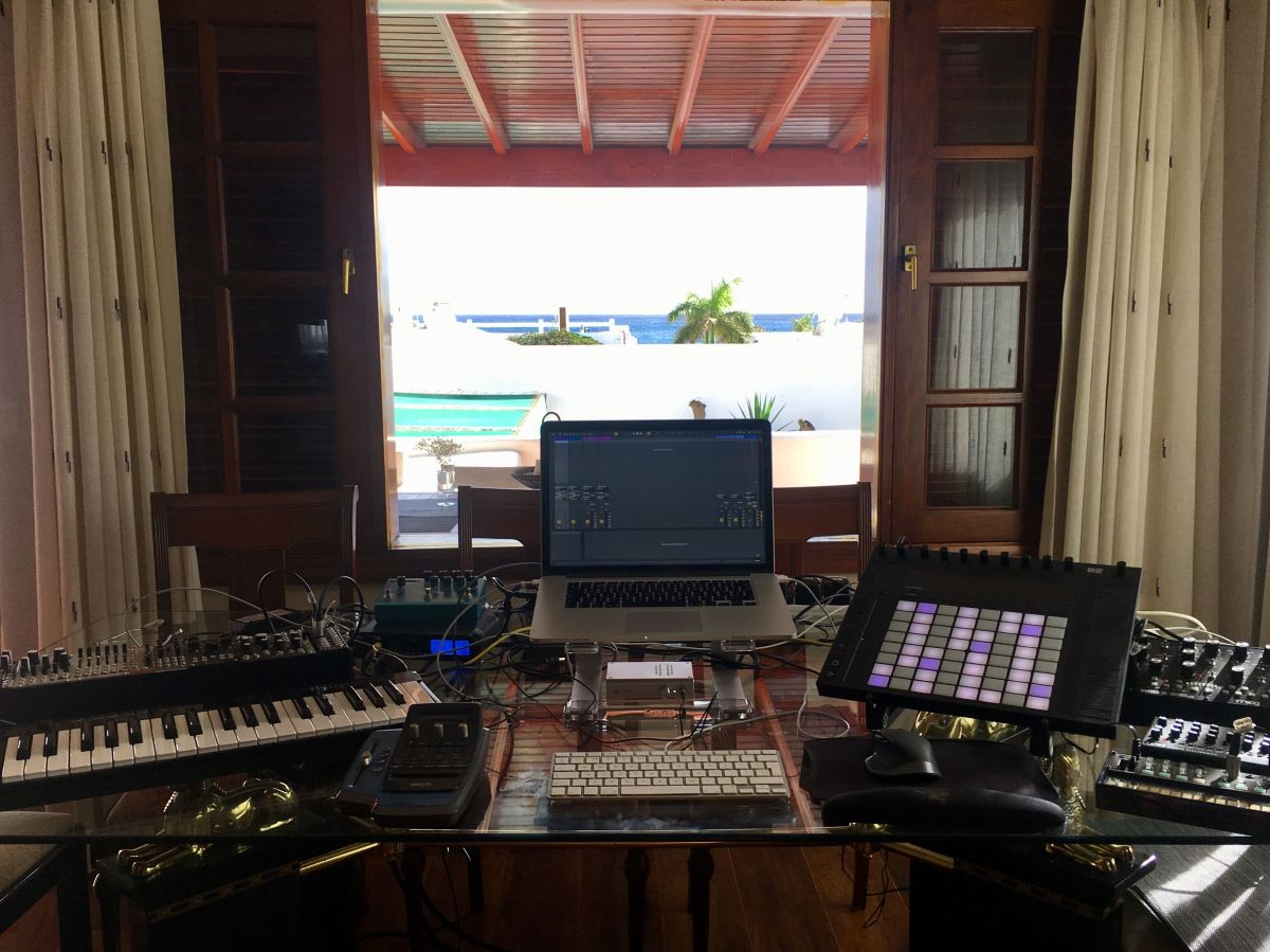 Left Field Bass Producer Alex Bank's Canary Island Studio