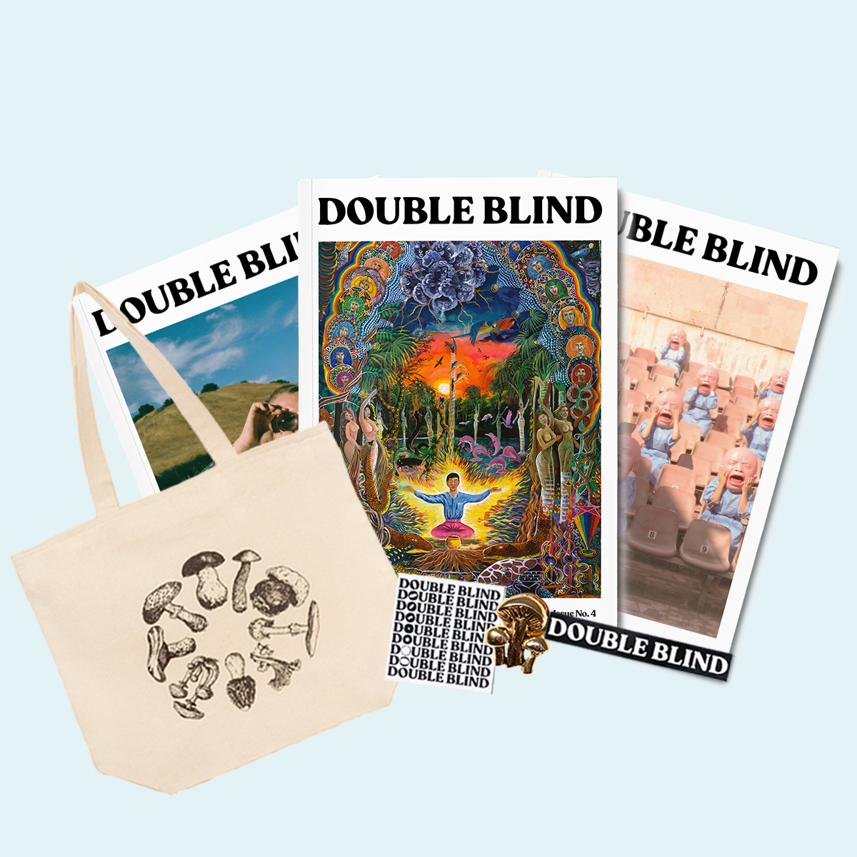 DoubleBlind Essentials Kit, featuring Issue 04 which will be available mid-December.