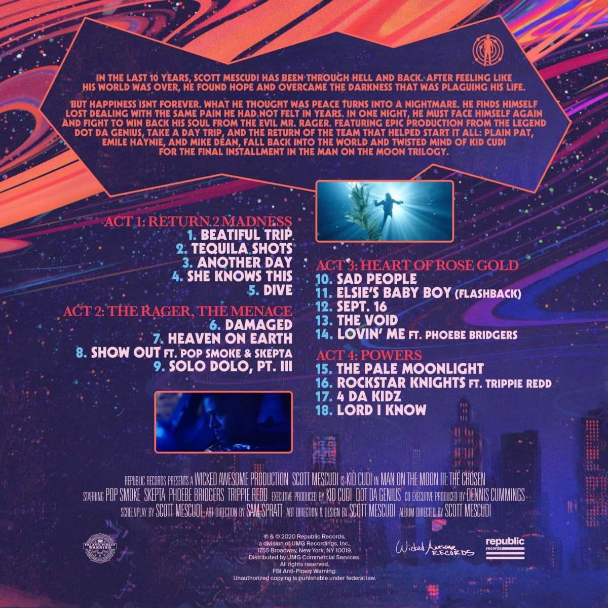 Kid Cudi Man on The Moon III: The Chosen Tracklist