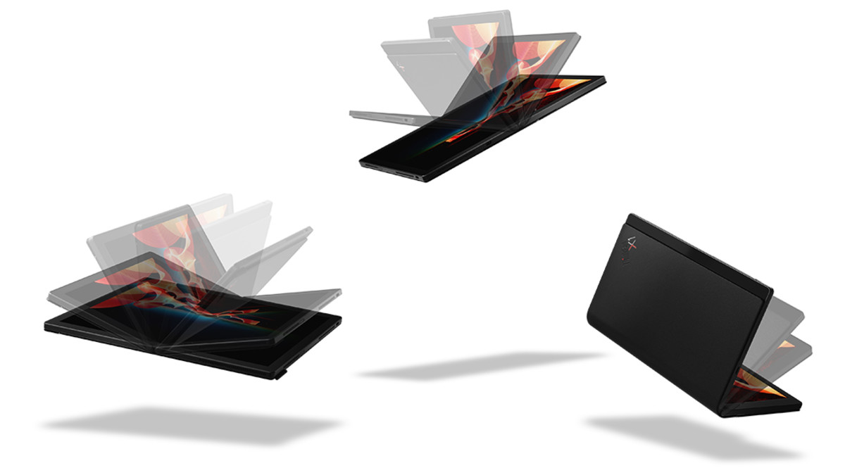 the first full functioning all-screen laptop that folds...mind blown!