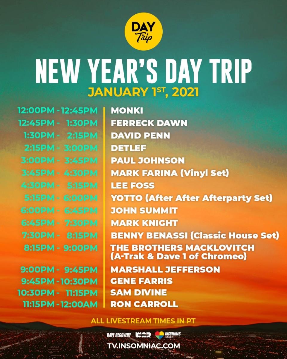 New Year's 2021 Day Trip Stream