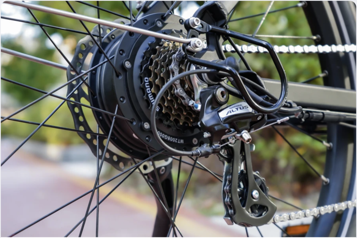Shimano Components and Brushless motor keep you running smooth