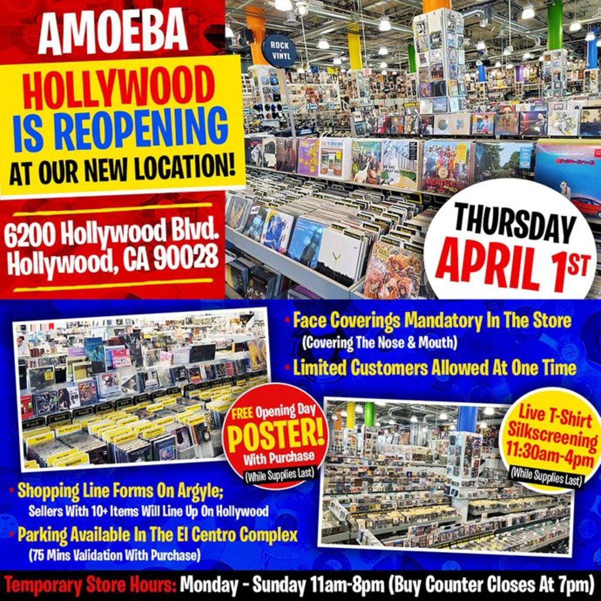 Amoeba Music Hollywood Opening Poster