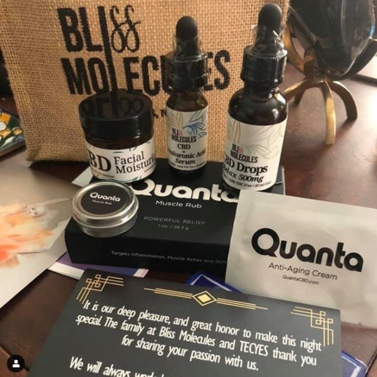 Bliss Molecules & Quanta CBD gift bag