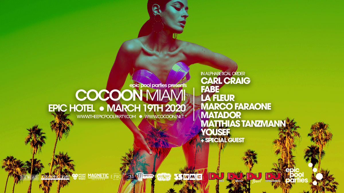 Cocoon Epic Pool Party 2020 Lineup