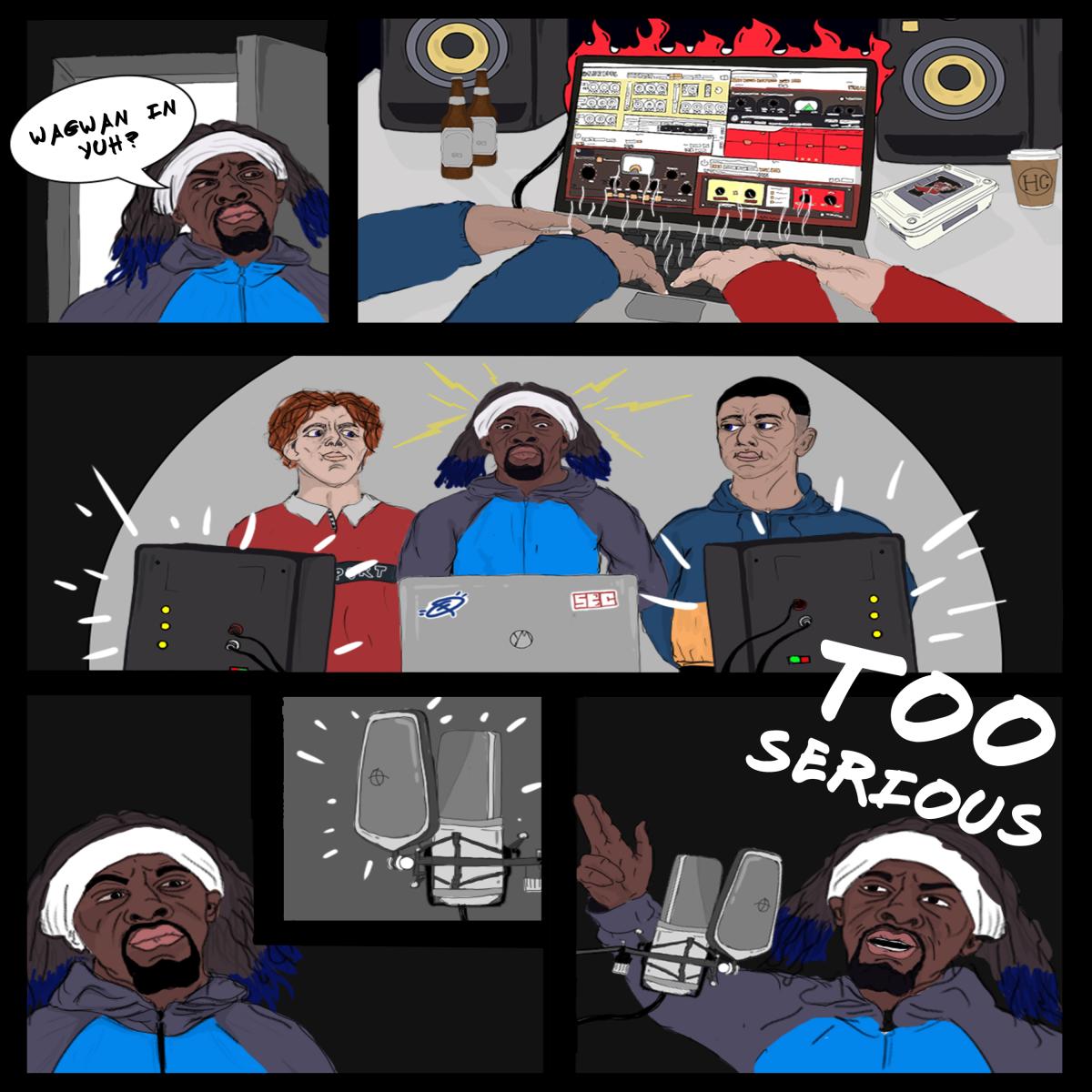 Too Serious EP Artwork