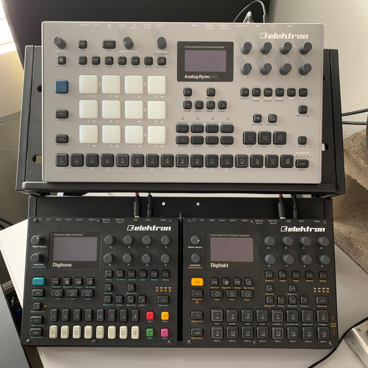 My Elektron power tower in my studio