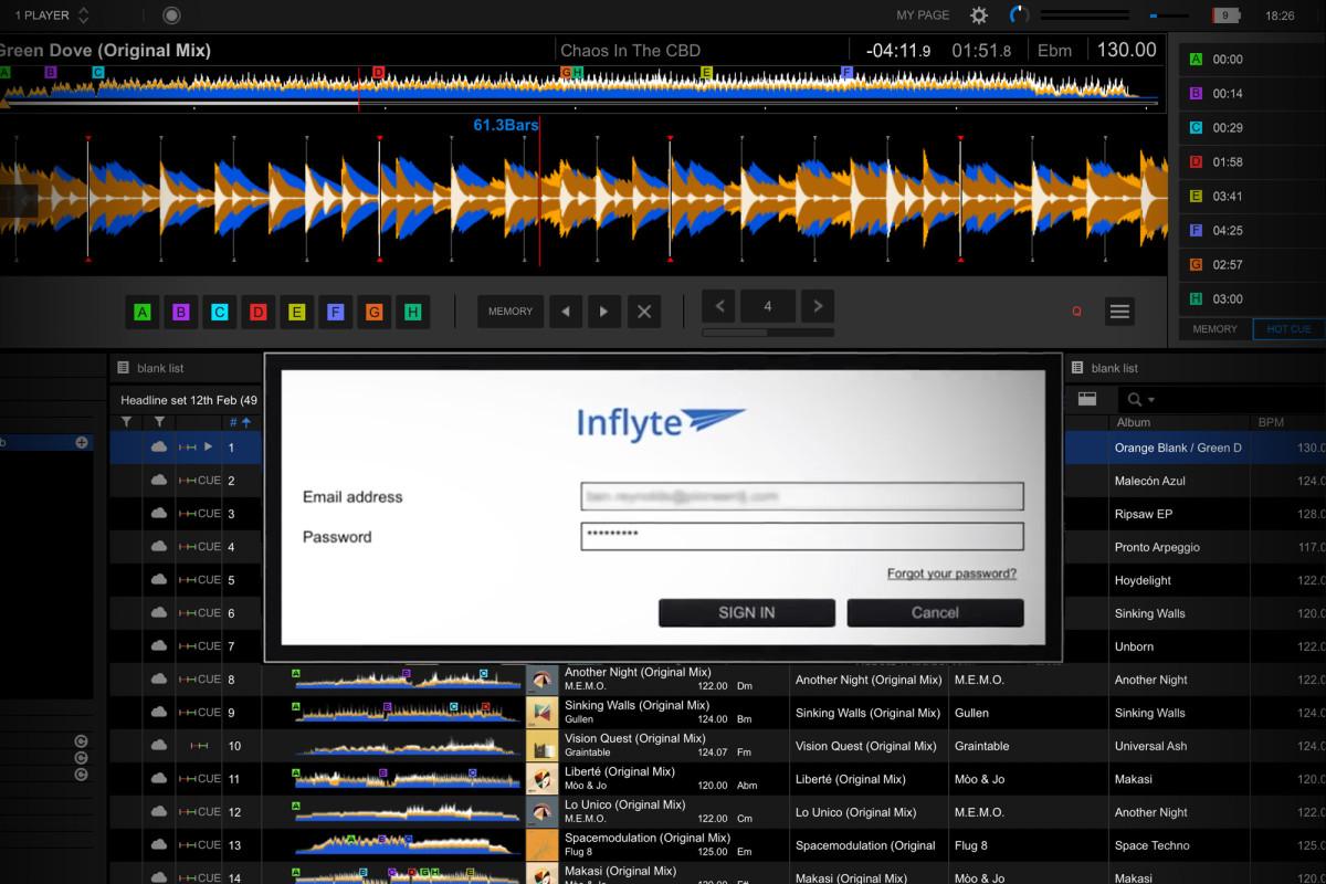 Pioneer DJ rekordbox 6.0 Inflyte