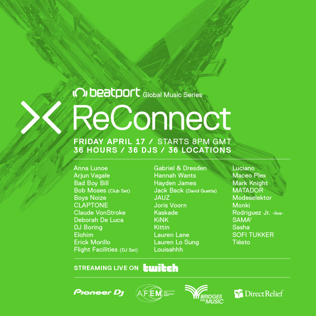 Beatport Reconnect April 17-19