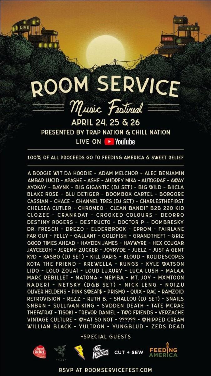 Room Service Music Festival Poster