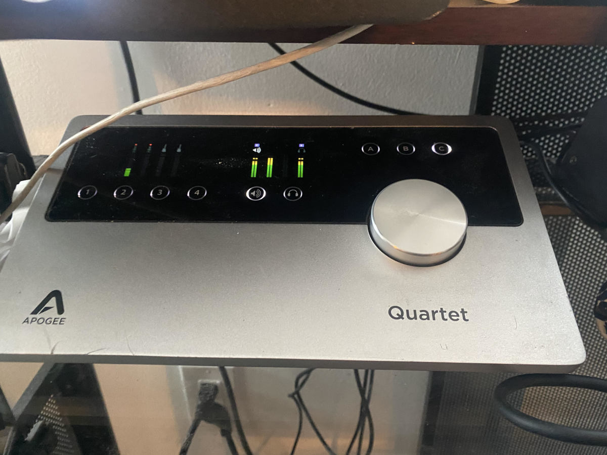 Apogee quartet is what I use for my audio interface.