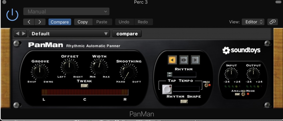 Favorite plugins for panning percussion and synths.