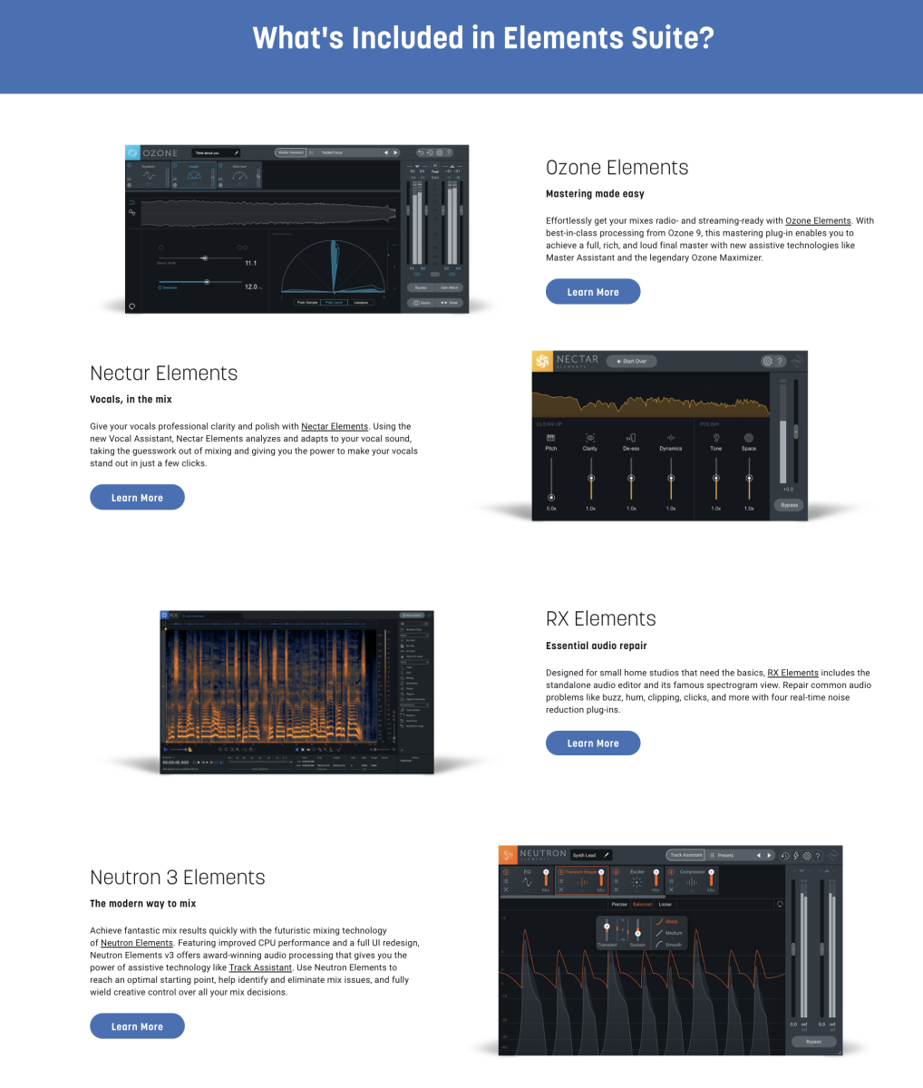 More about iZotope's Elements Suite Here