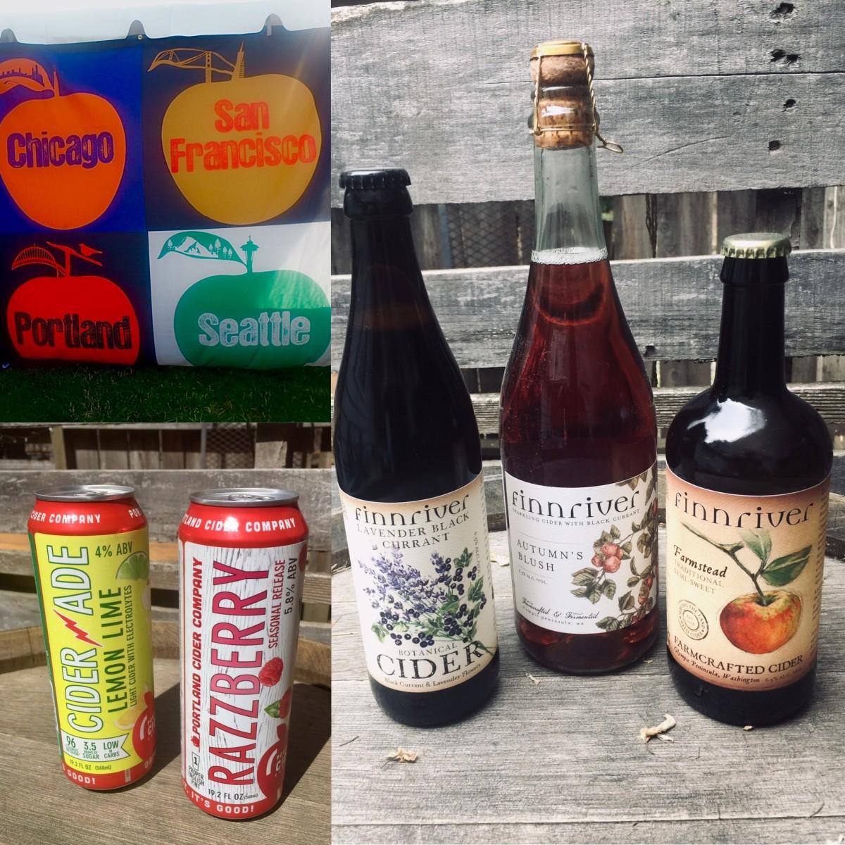 (L to R) Cider Summit PDX 2019, Portland Cider Company, Finnriver Cidery & Farm