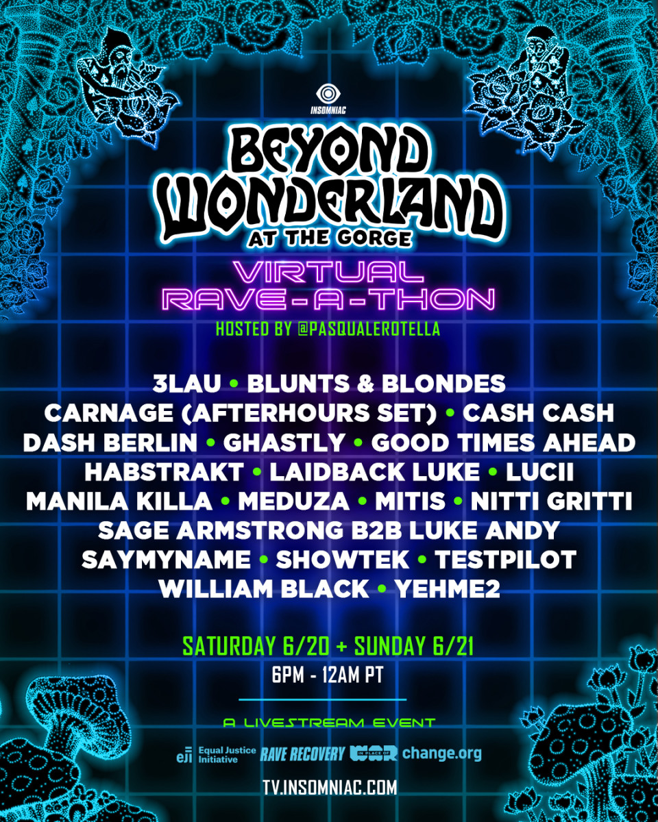 Virtual Rave A Thon Beyond Wonderland 2020