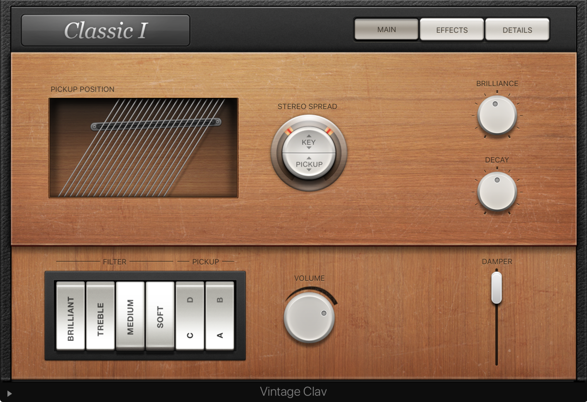 One of the classic and legacy virtual instruments in LPX - The Vintage Clav