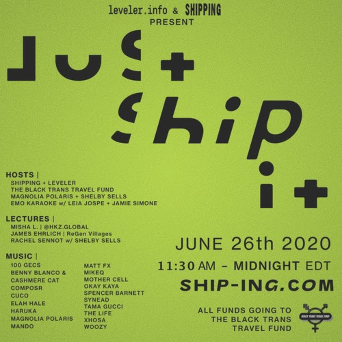 Just Ship It Lineup Poster