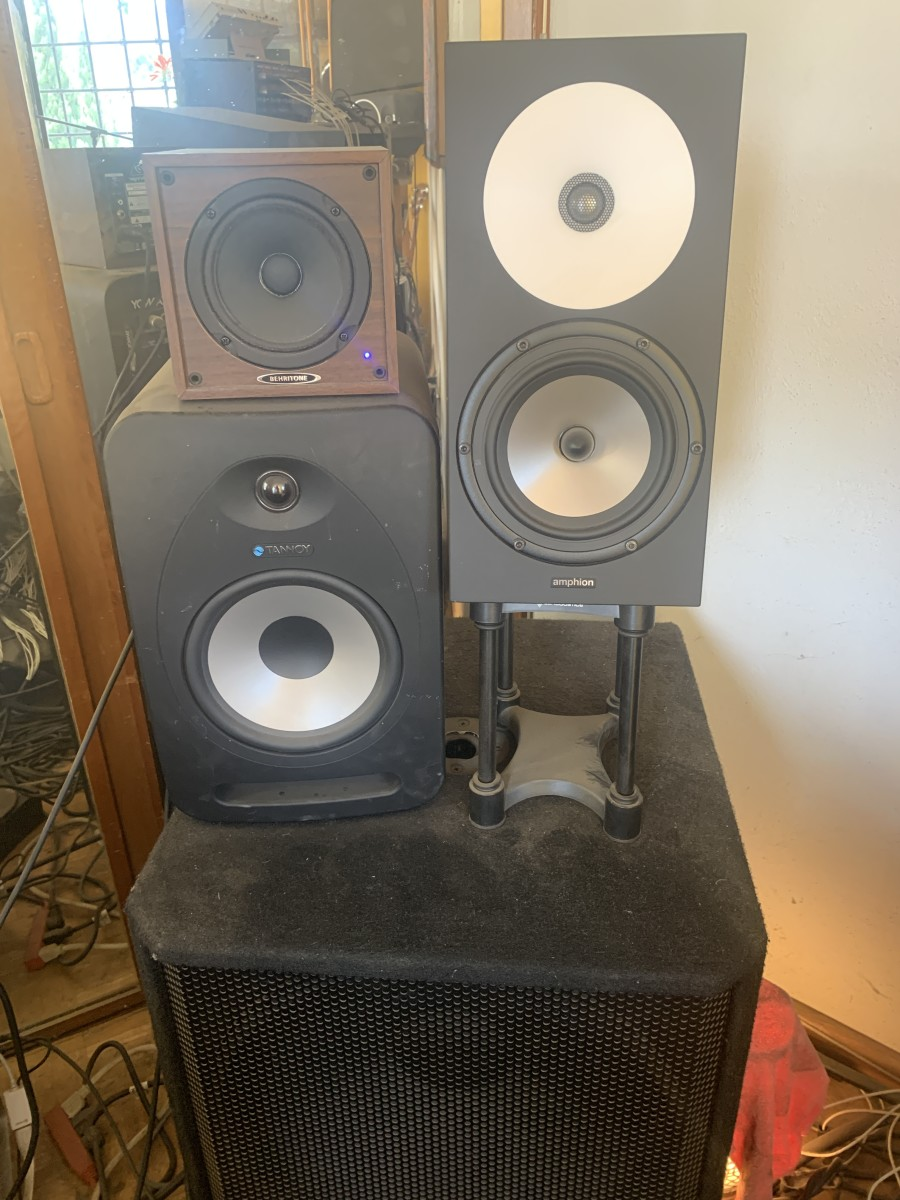 6 Amphion One18s, various ref speakers