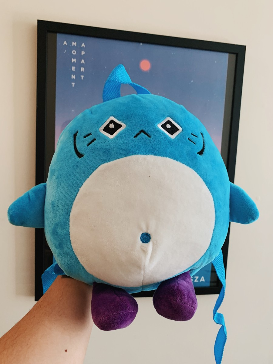Not quite a Potaro keychain, but a plush backpack. We like to think of it as a very large keychain