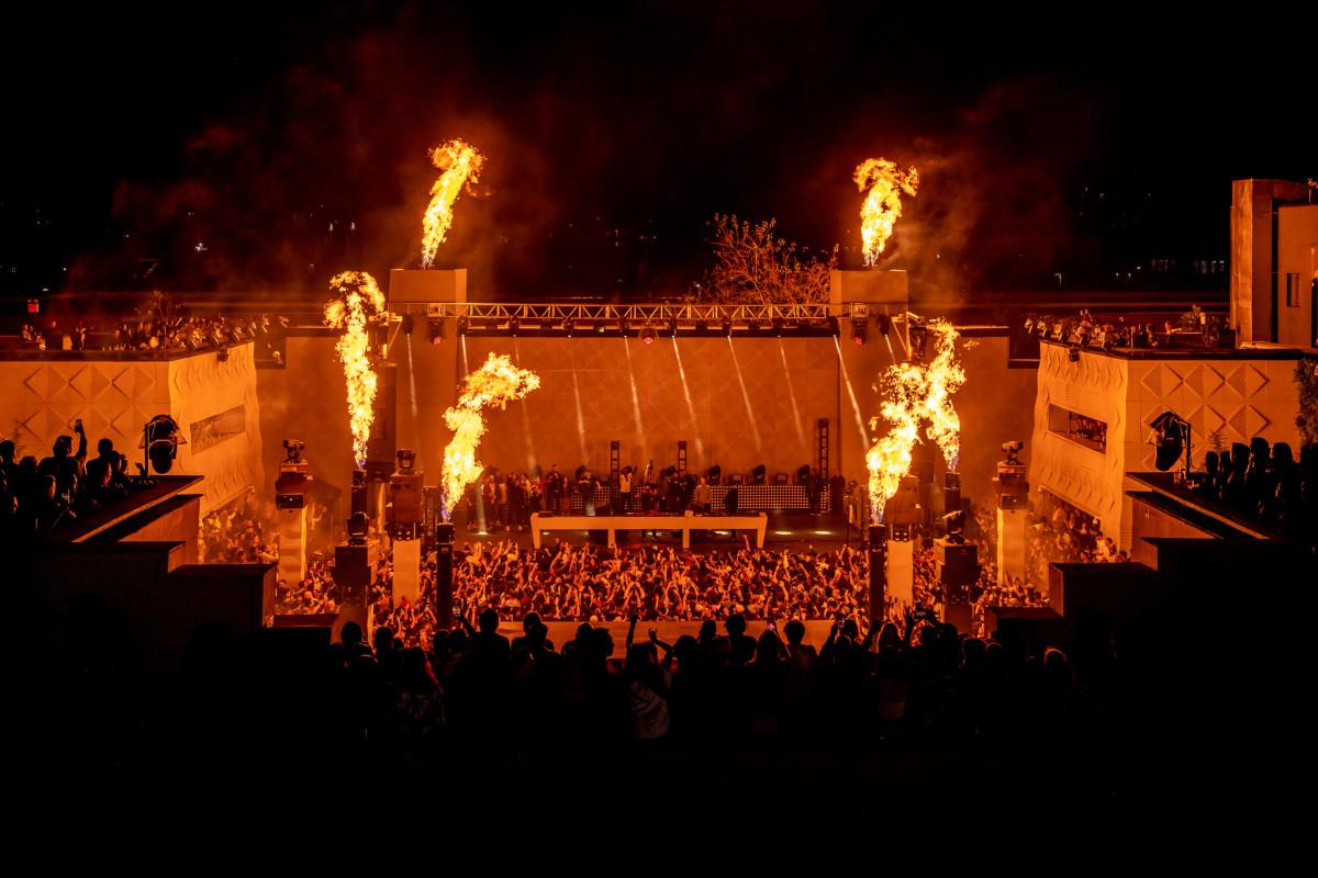 Carl Cox The Brooklyn Mirage Concert Pyro Fire