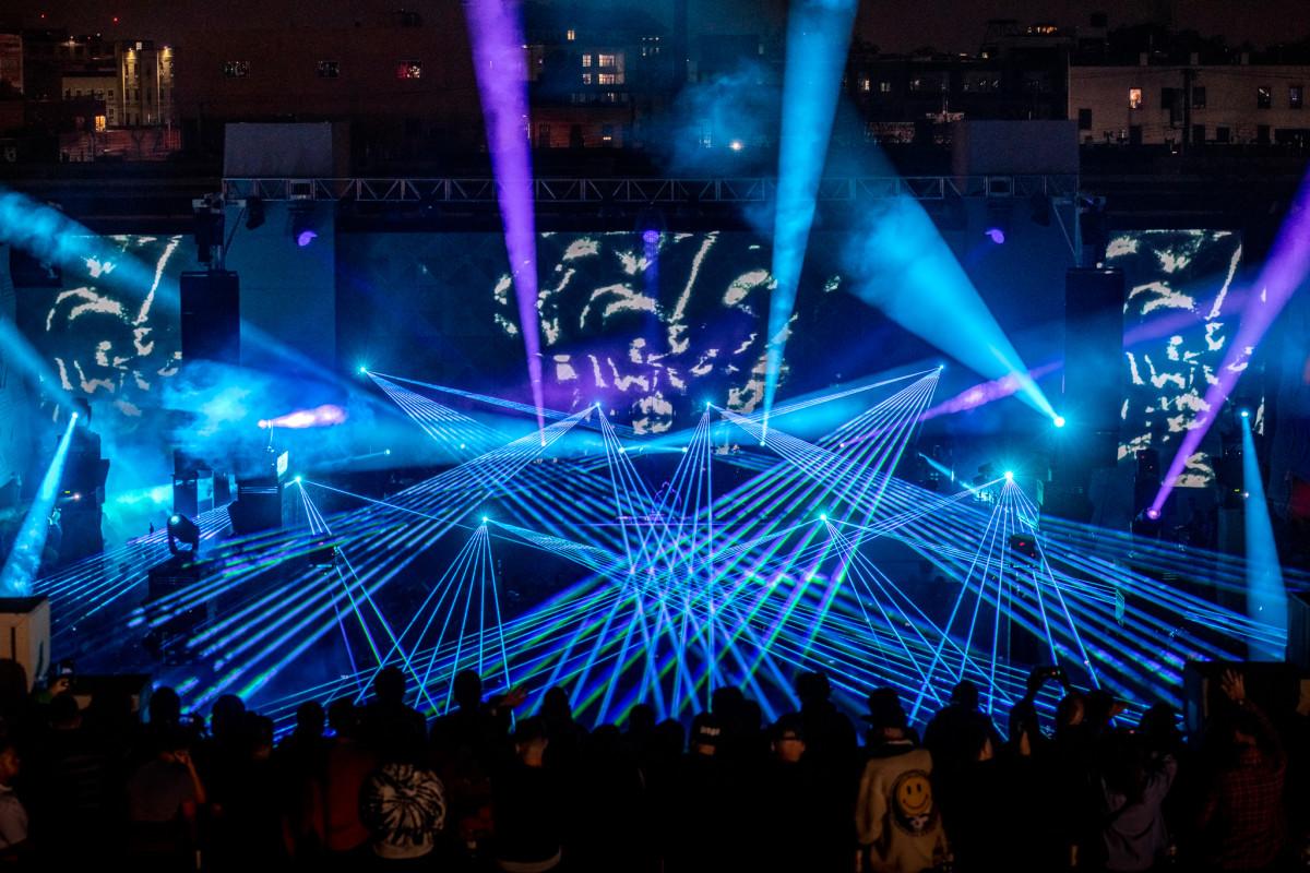 Carl Cox The Brooklyn Mirage Concert Lasers