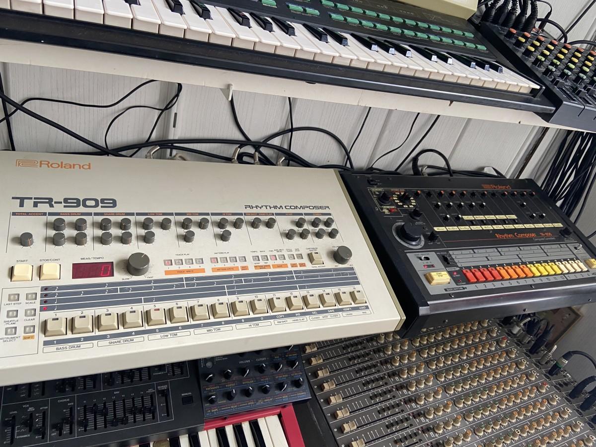 Roland TR-909 en TR-808