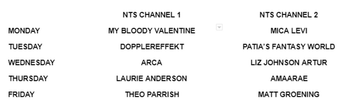 NTS Radio 10 Schedule Guest Hosts
