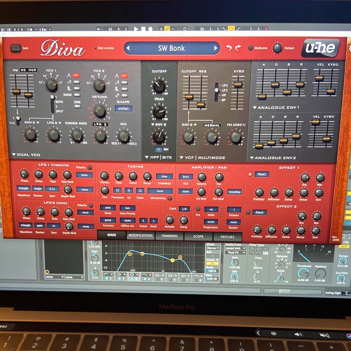 Diva Synthesiser plug-in by U-He