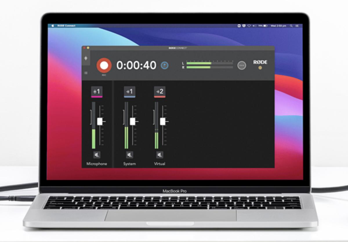 RODE Connect App Laptop