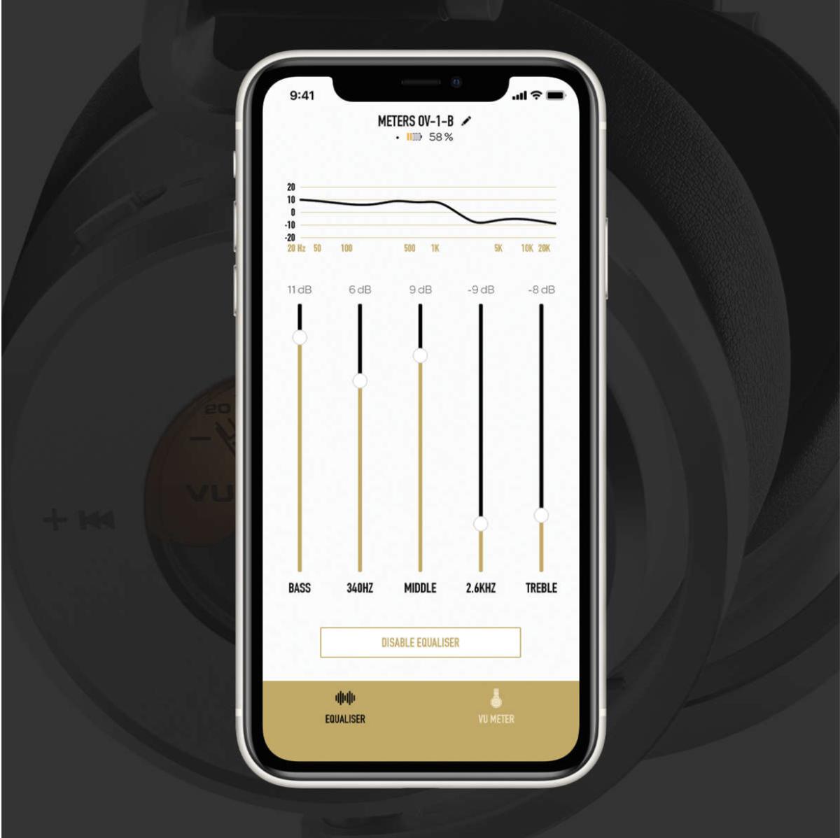 Meters OV-1-B Connect Headphone app