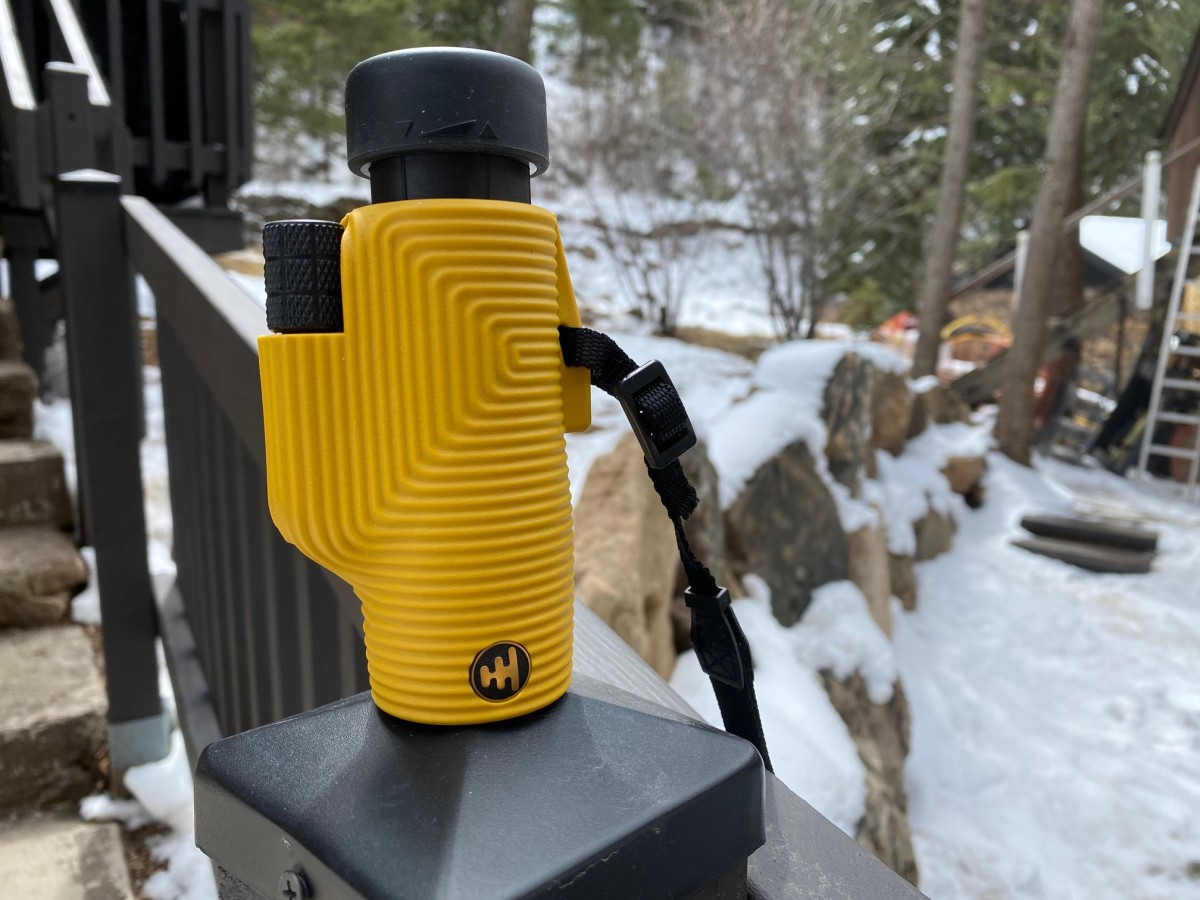 This was a picture from another trip back in April, but we still took this fantastic little scope with us to spot deer, elk, Hot Sauce Andy, and peep other cool cabins in the area.