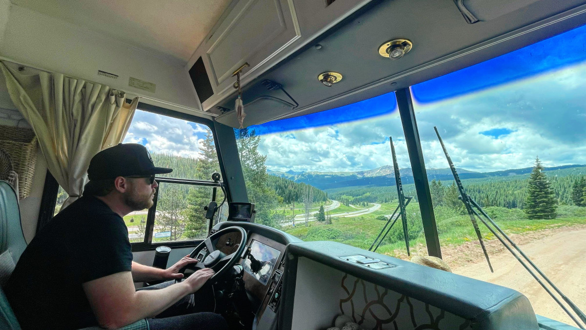 Luke hunting for a boondocking spot in Colorado