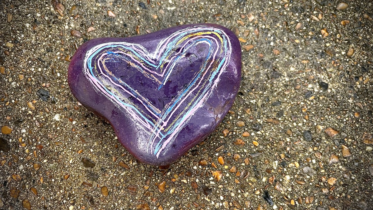 Heart rock from Florida waiting for us at Hot Springs National Park, Arkansas