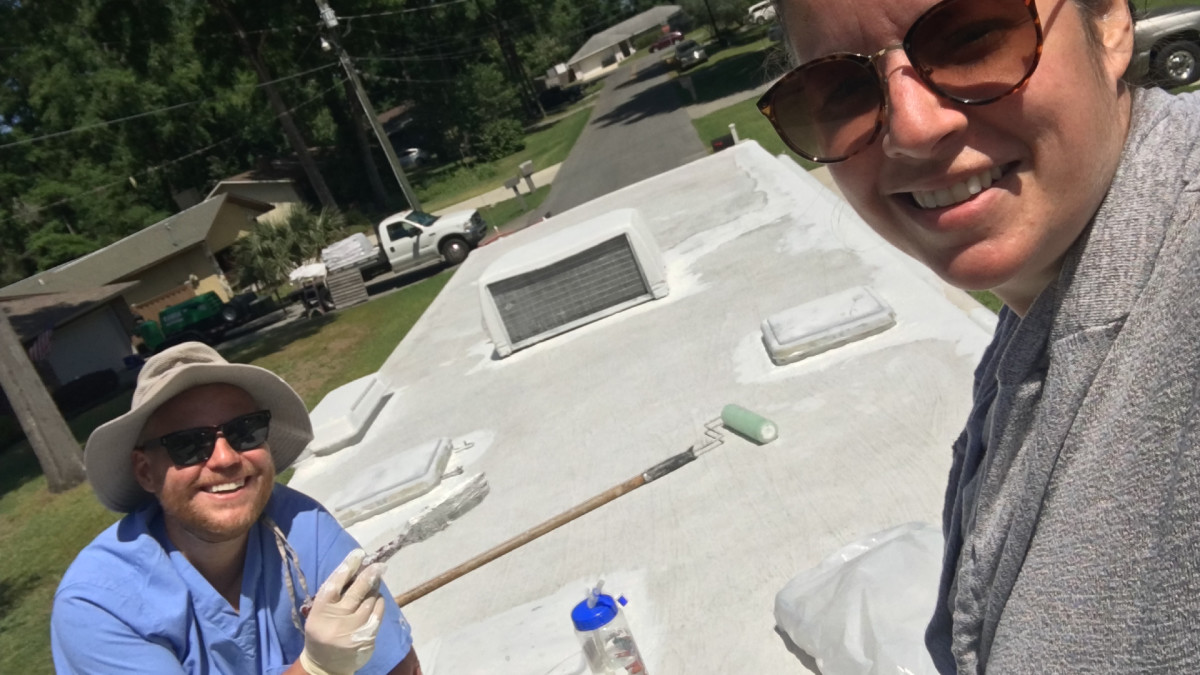 Rubber Roof Re-coating