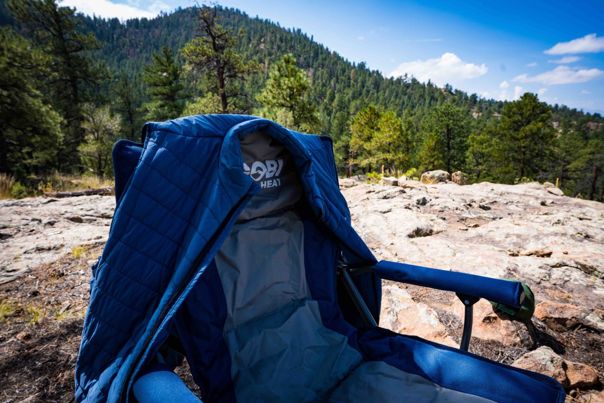 Gobi gear, perched for sunset at Project Basscamp, Colorado