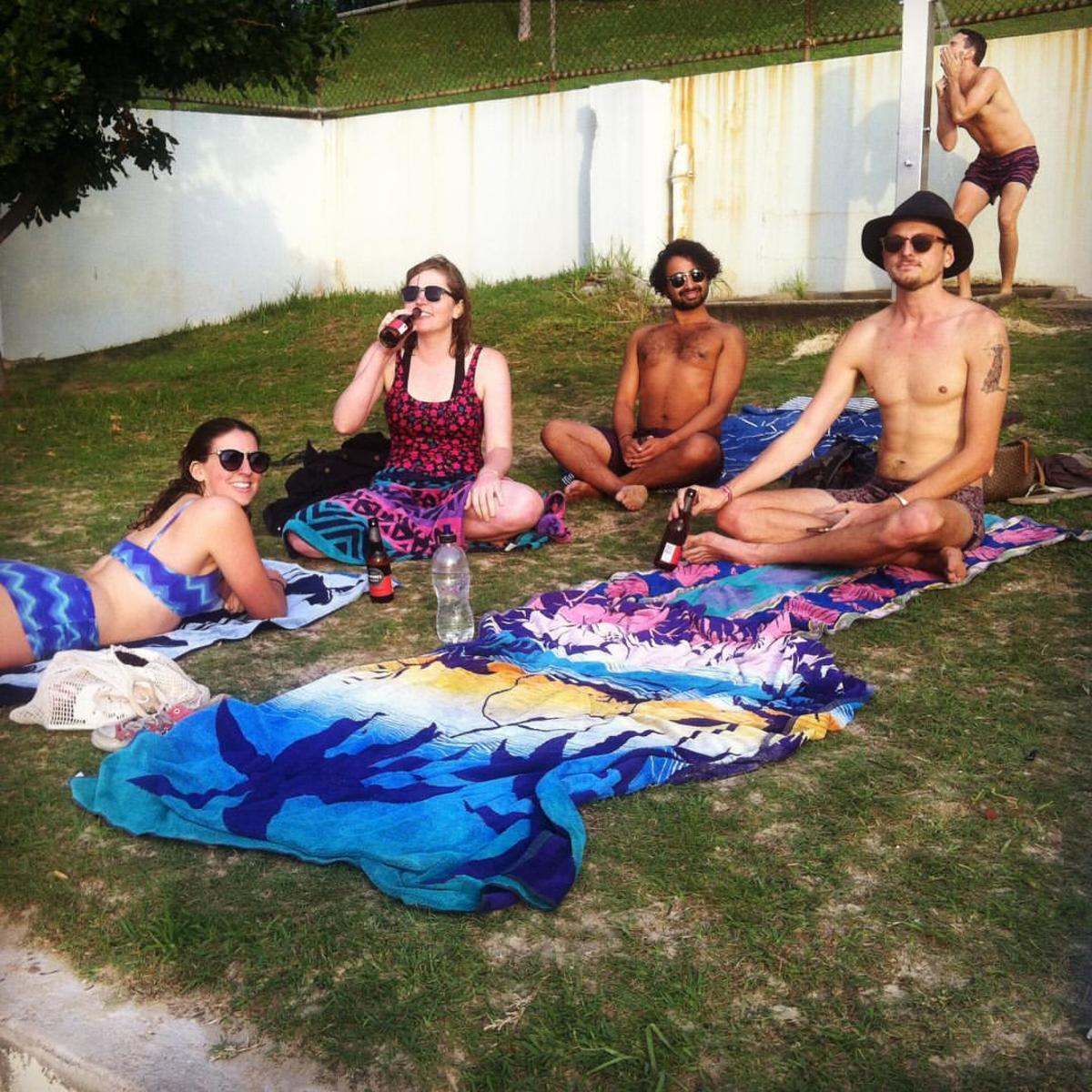 The team at Redleaf beach.