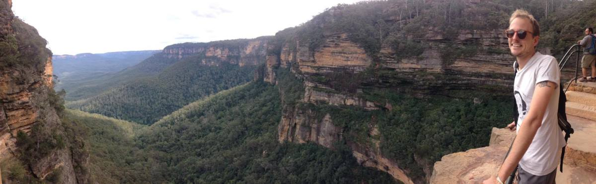 Me in the blue mountains.