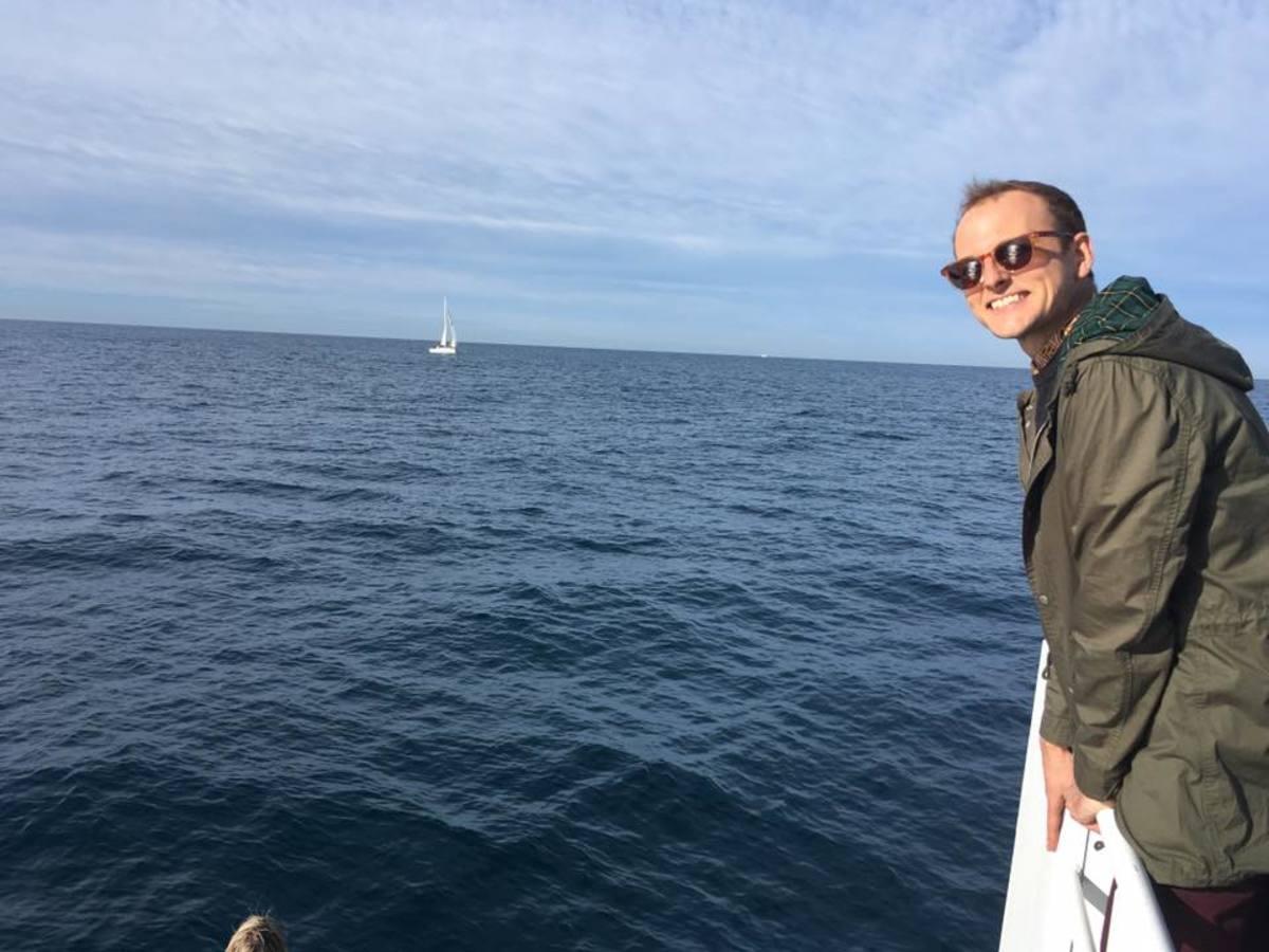 Birthday whale watching cruise